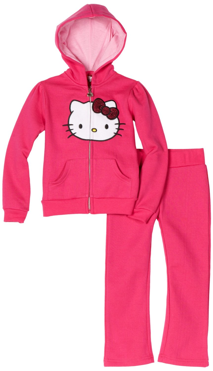 Hello Kitty Girls Pink Fleece Active-Wear Set