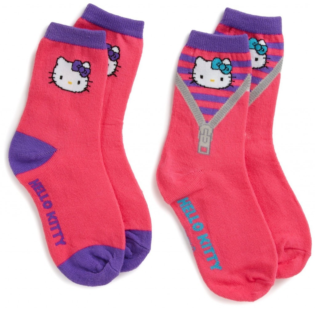 Hello Kitty Hot Pink Zipper Socks