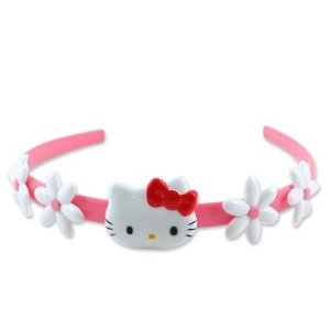 Hello Kitty Kids Pink Flower Tiara Headband