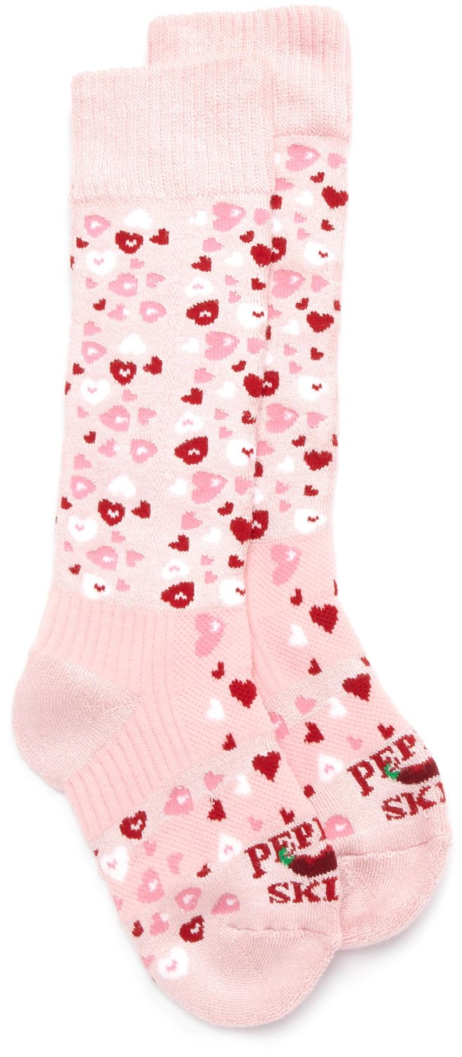 Hot Chillys Pink Heart Socks