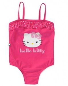 Pink Hello Kitty Girls' One Piece Ruffle Swimsuit41ZSe6LwlLL