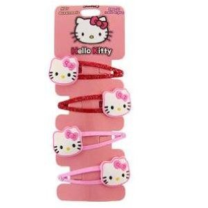 Pink Hello Kitty Hair Clips