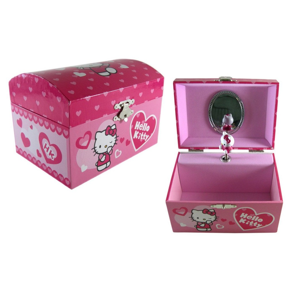 Pink Sanrio Hello Kitty Jewelry Box Pink Shoes Pink