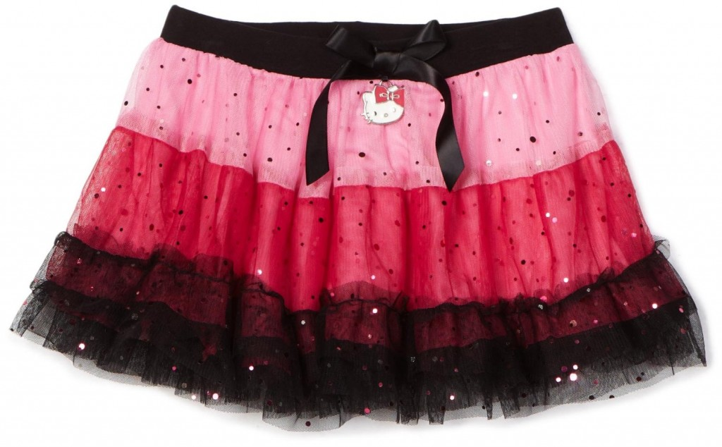 Pink and Black Hello Kitty Girls Mesh Tutu