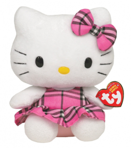 Ty-Hello-Kitty-Beanie-Baby-Pink-Plaid
