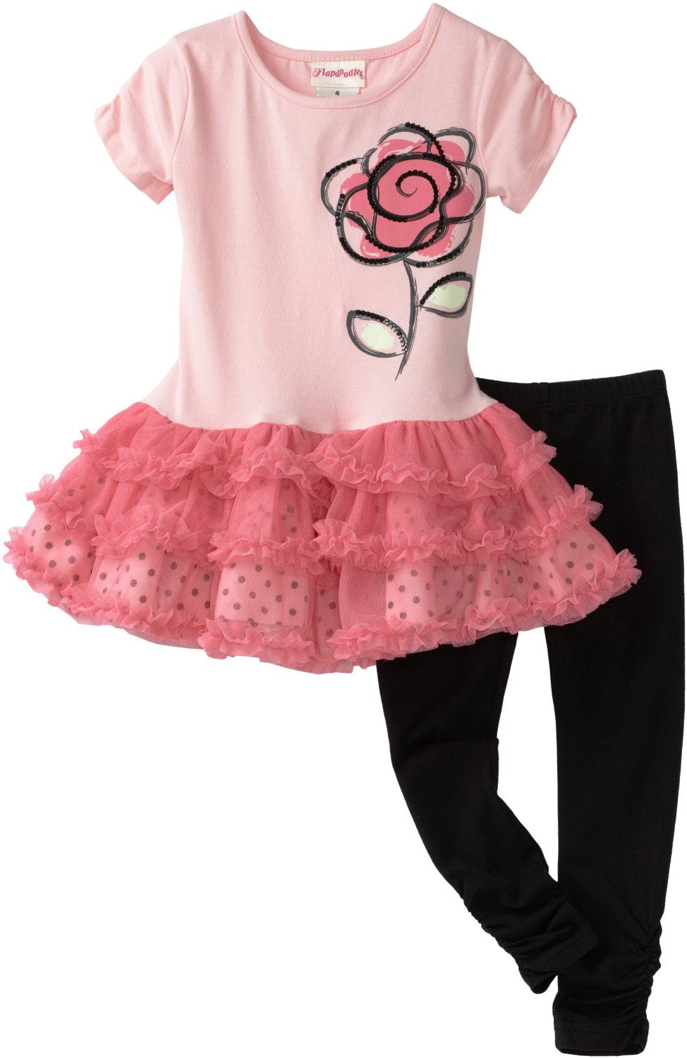 flapdoodles rose ballerina dress