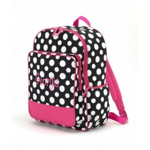 hotpink polkadots backpack