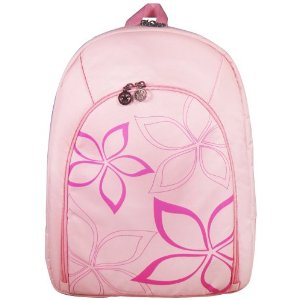 pink and white star flower backpack