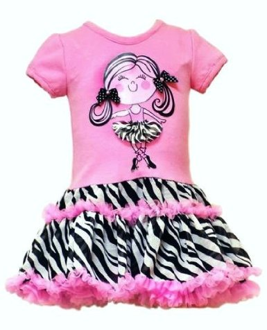 pink zebra dropwaist dress