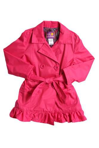 fuchsia pink all weather trench jacket