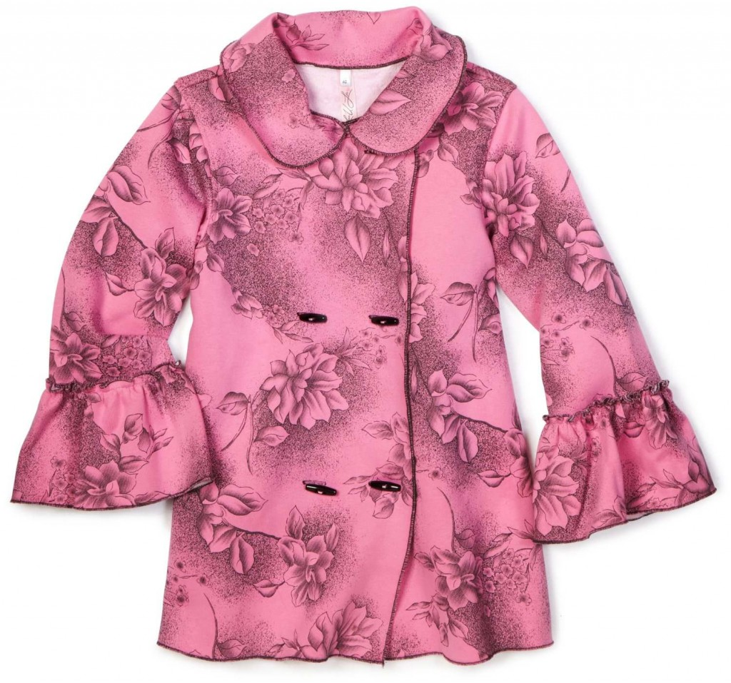 pink floral pea coat jacket