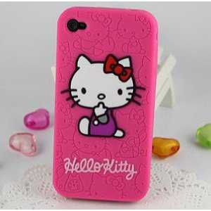 Hello Kitty Embossed Pink Flexa Silicone Case Cover