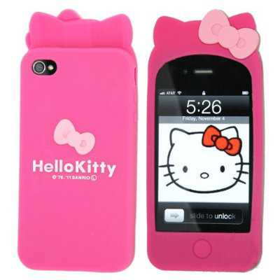 hello kitty silicon case iphone 4
